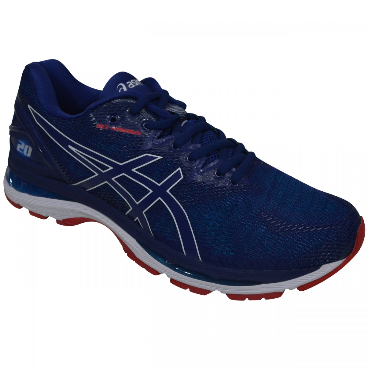 1eb2d87e92c Tenis Asics Gel-Nimbus 20 T800N-004 - Azul marinho branco - Chuteira Nike