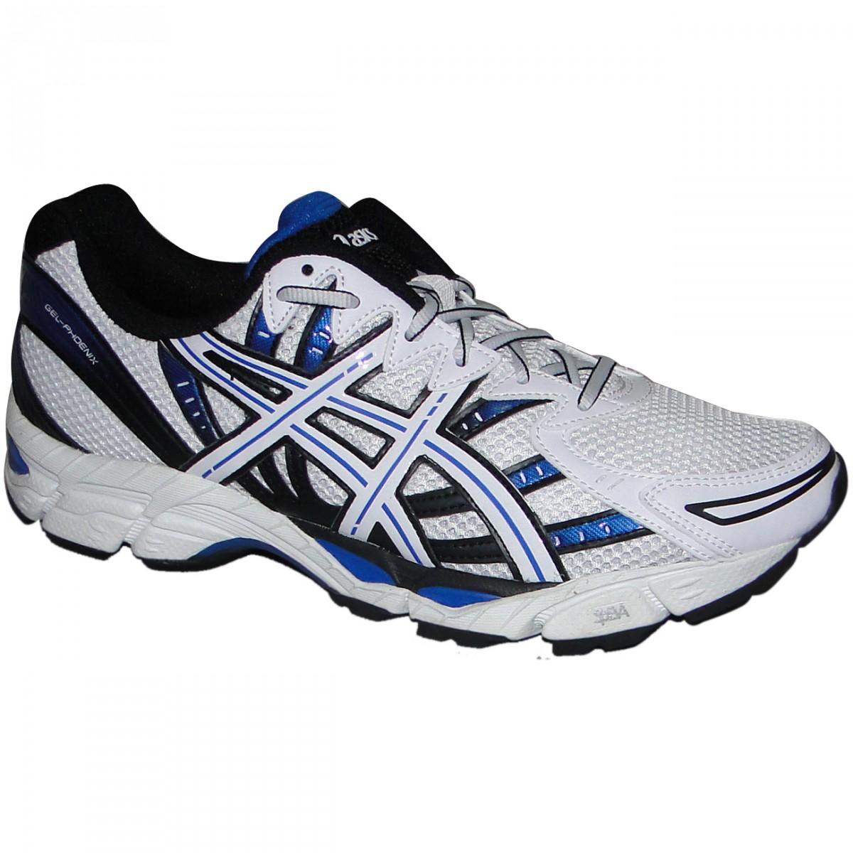 f1181bca83bf6 Tenis Asics Gel-Phoenix 4 T223N N-0190 - Branco Preto Azul - Chuteira Nike