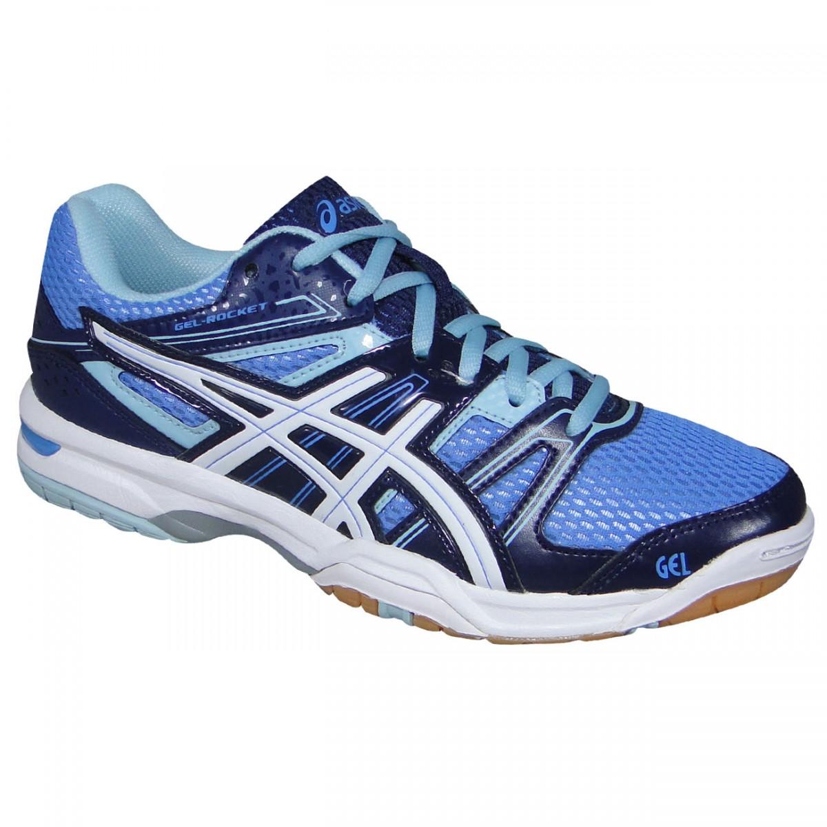 86409b0699023 Tenis Asics Gel-Rocket 7 B455N 4701 - Azul Branco - Chuteira Nike ...