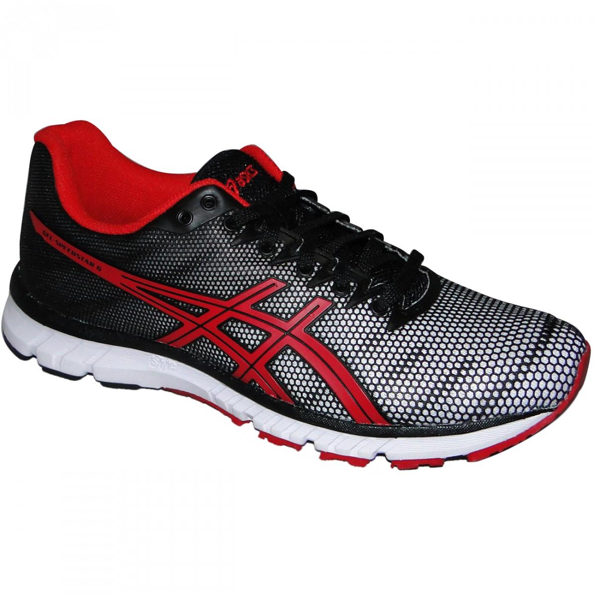 72e119ceb4d Tenis Asics Gel-Speedstar 6 T213Q-0190 - Preto Vermelho Branco - Chuteira  Nike