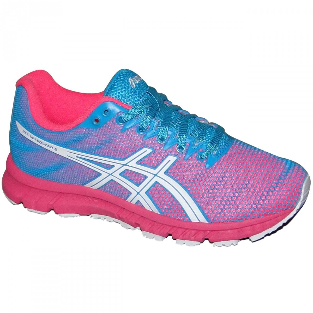 0bdf02e658a Tenis Asics Gel-Speedstar 6 T263N-4601 - Azul Pink Branco - Chuteira Nike
