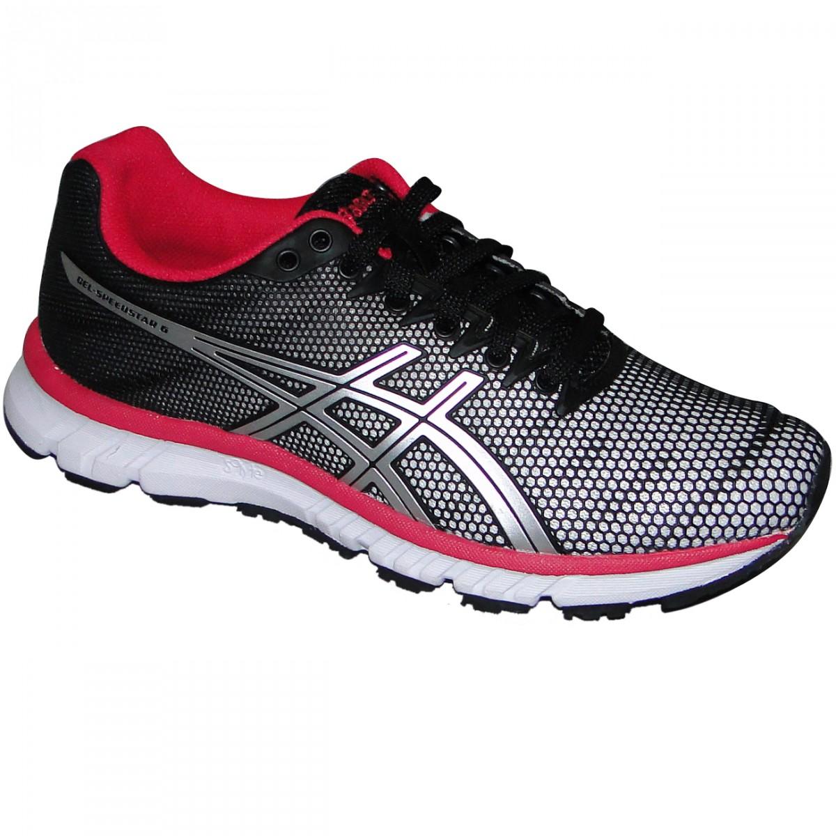 f68fe67f44f Tenis Asics Gel-Speedstar 6 T263Q-0190 - Preto Branco Pink - Chuteira Nike