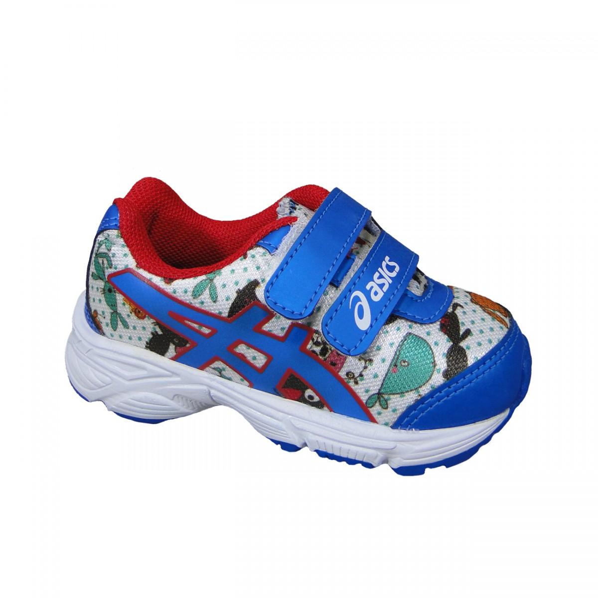 1db4440c6b0 Tenis Asics Sugar Baby TS Infantil C003A 0142 - Branco Azul Vermelho -  Chuteira Nike