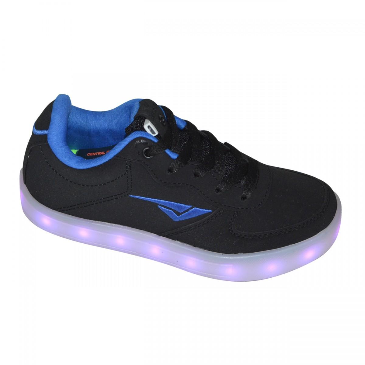 9b79f14f78e Tenis Bouts Teen Luzinha Juvenil 4054 - 327 - Preto Royal - Chuteira Nike