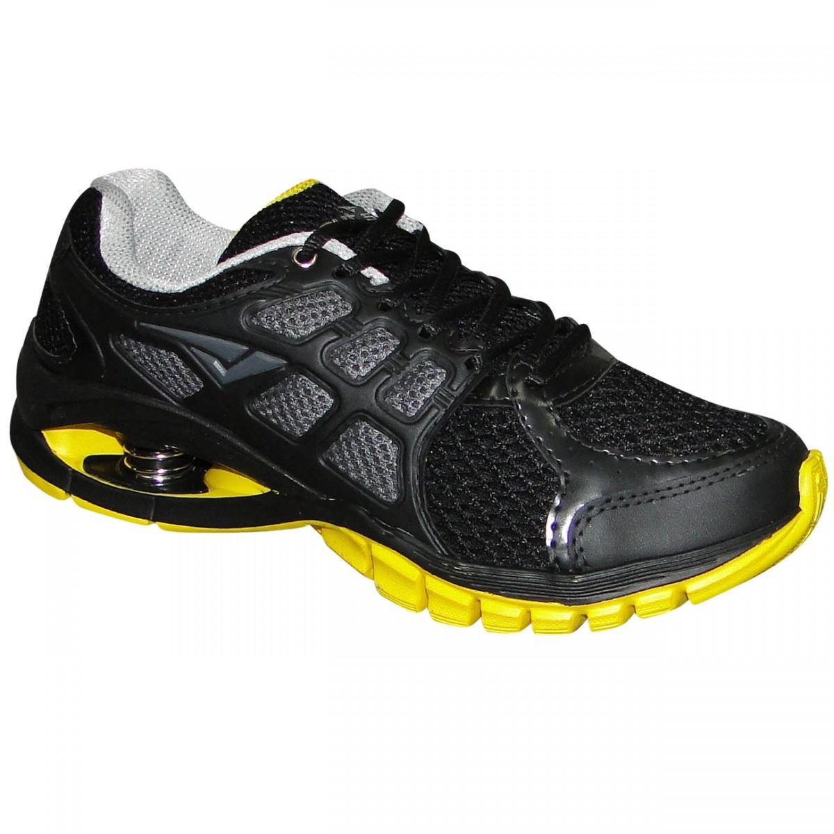 029c8be668b Tenis Bouts Ultra 9036BS-316 - Preto Amarelo - Chuteira Nike
