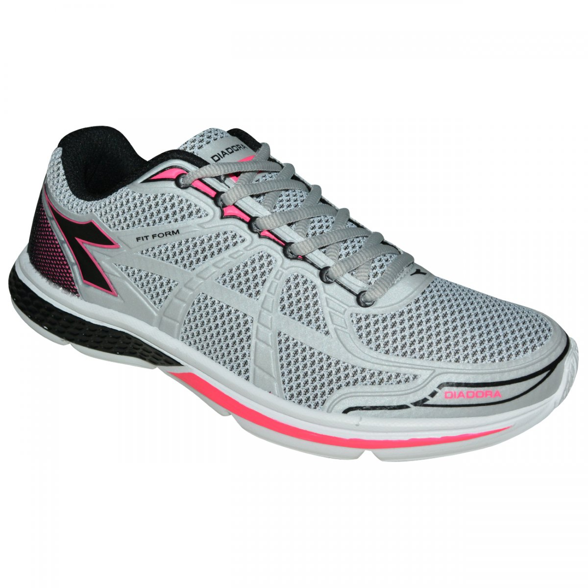 d66b725488 Tenis Diadora Fit Form 125604 C3329 - Cinza pink preto - Chuteira Nike