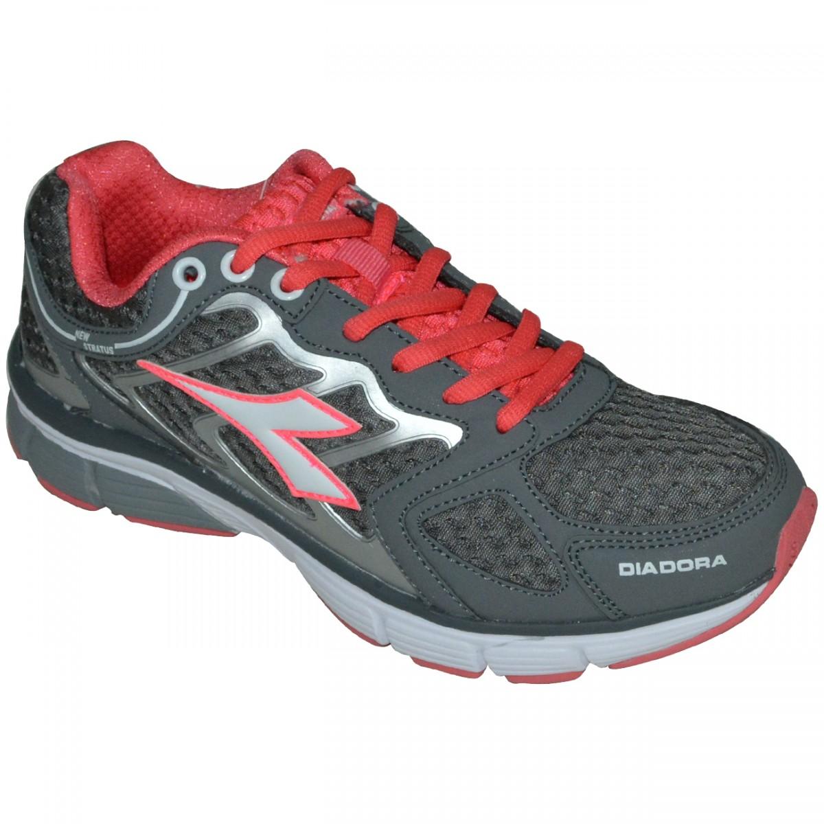 Tenis Diadora New Stratus 125700 C0393 - Grafite Rosa - Chuteira Nike c67fd278209