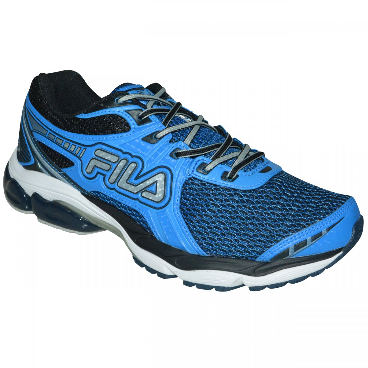 d5791f0b2f8 Tenis Fila Energized Pad 2.0 765087 - Azul preto prata - Chuteira Nike
