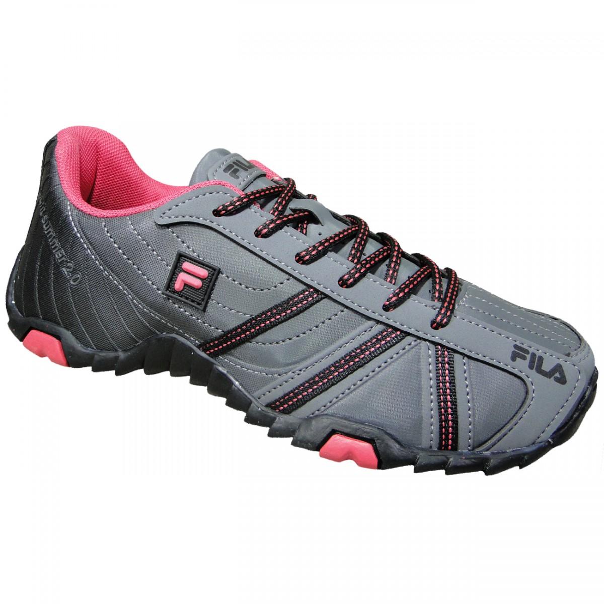 eb8468ab2a3 Tenis Fila Slant Summer 2.0 623933 - Grafite Preto Pink - Chuteira Nike