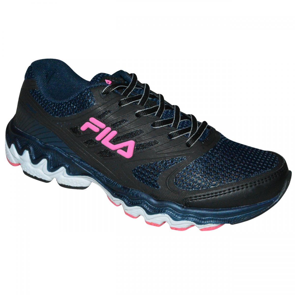 00393e776b5 Tenis Fila Viper 683140 - Marinho Preto Rosa - Chuteira Nike