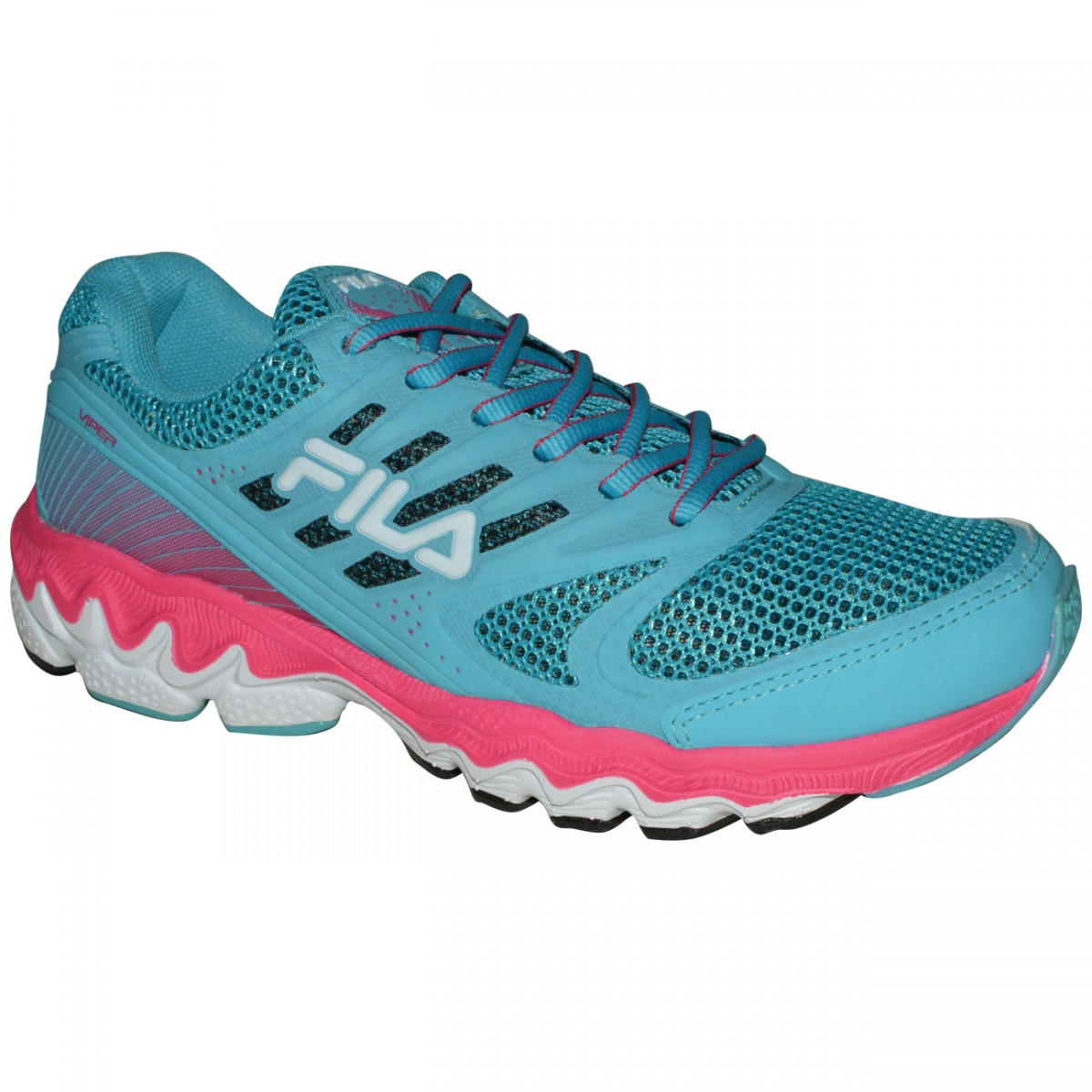 3d5cd9b6de4 Tenis Fila Viper 683139 - Celeste Pink - Chuteira Nike