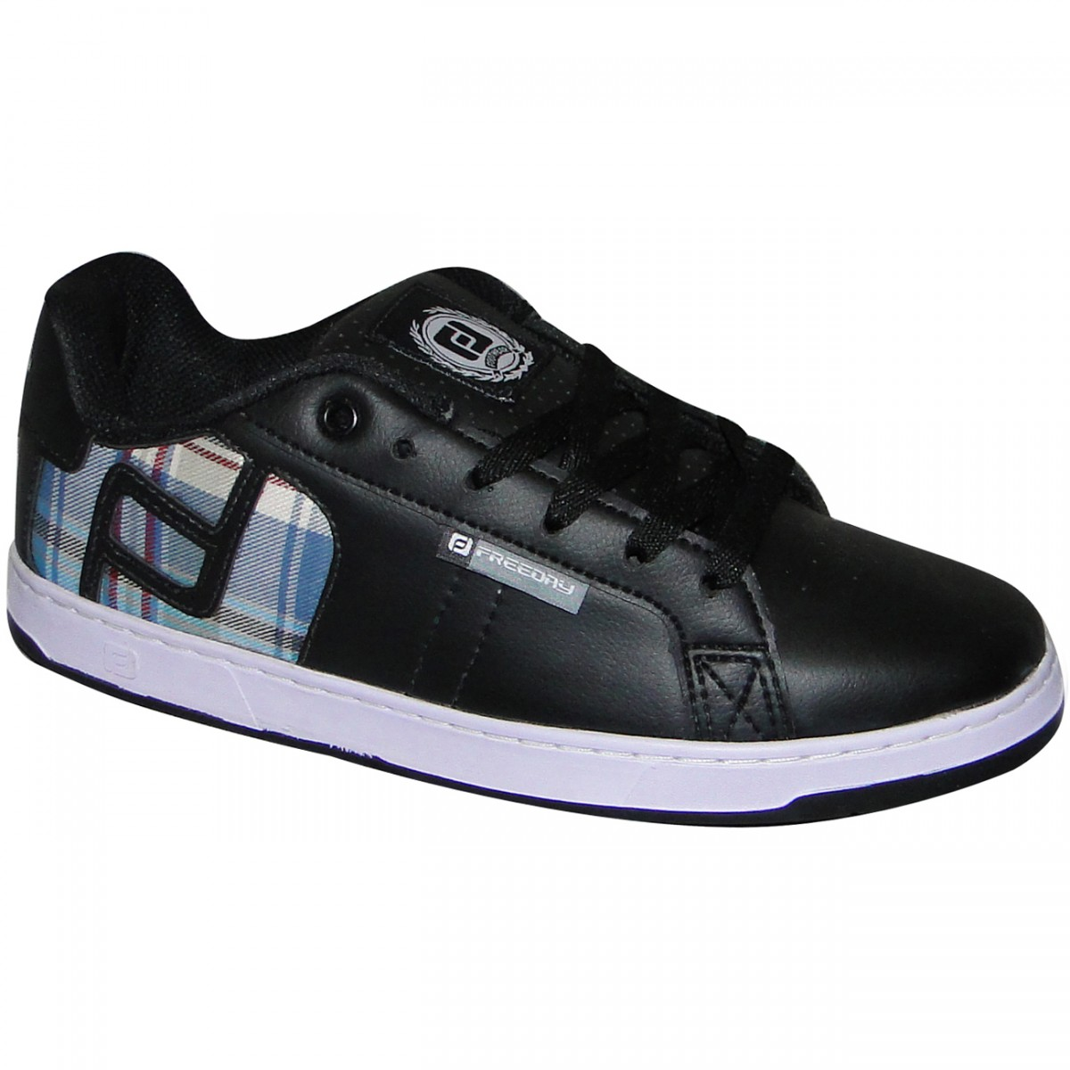 37479983c71 TENIS FREEDAY LOGO 19912 - Preto Xadrez Azul - Chuteira Nike