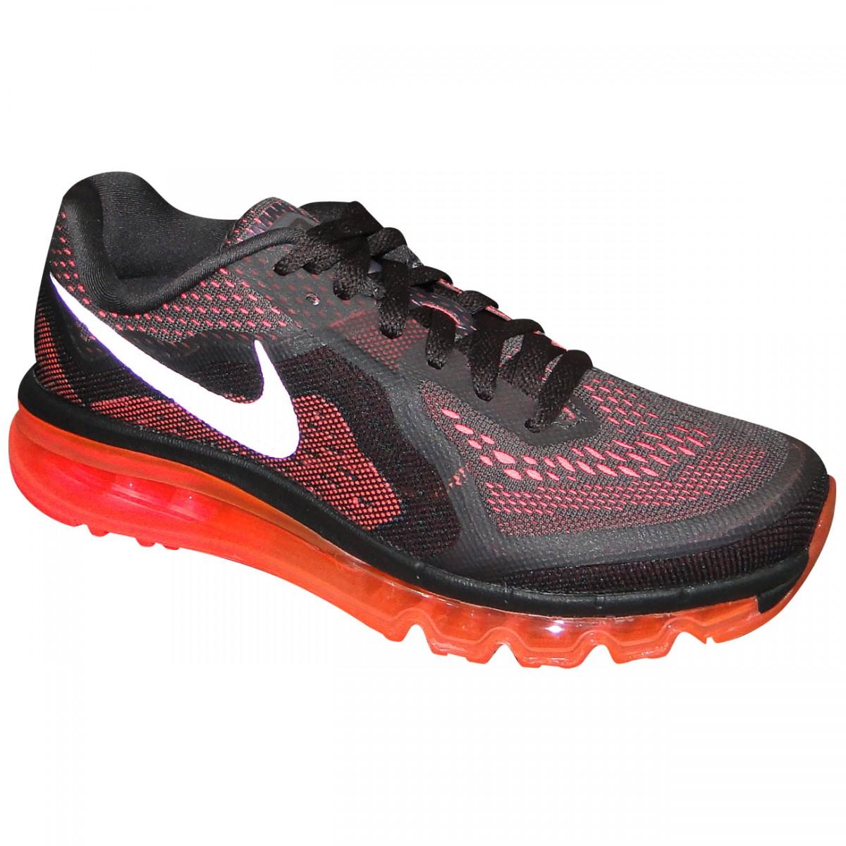 200cf71ce4e Tenis Nike Air Max 2014 621078 200 - Preto Coral - Chuteira Nike ...