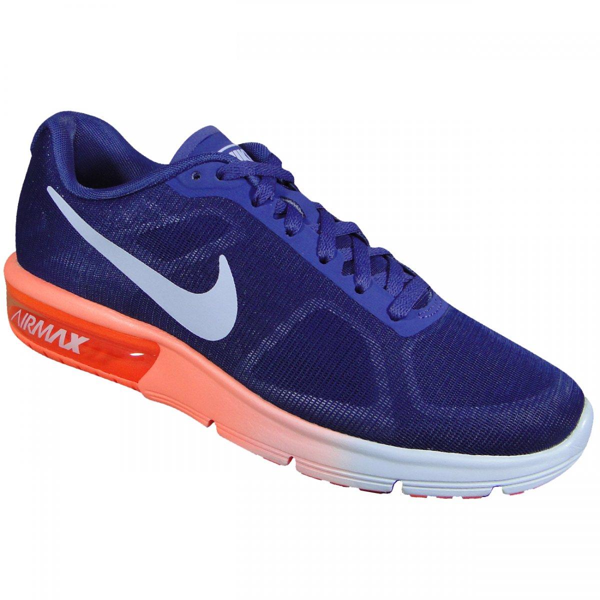 Tenis Nike Air Max Sequent 719916 505 - Uva Coral - Chuteira Nike ... 7e3b3c3e6f