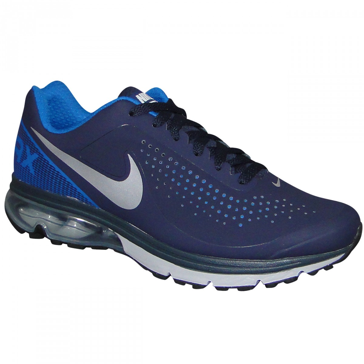 d92ba08b4e467 Tenis Nike Air Max Supreme 2 633024 420 - Marinho/Prata - Chuteira ...