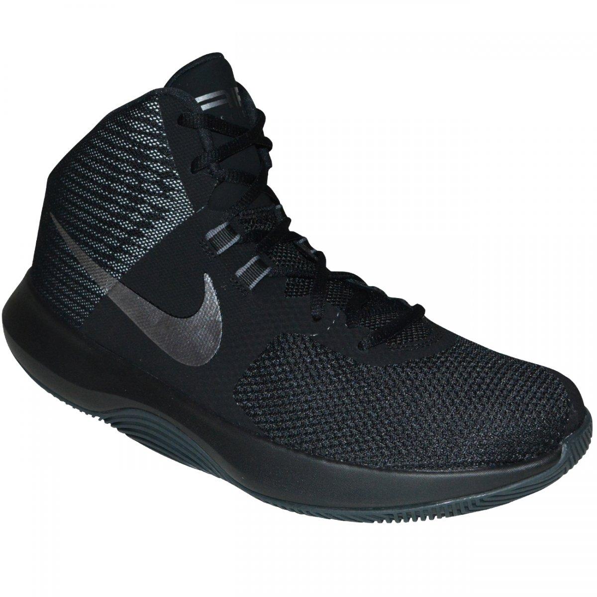3c23f09a3cb Tenis Nike Air Precision NBK 898452 001 - Preto prata - Chuteira Nike