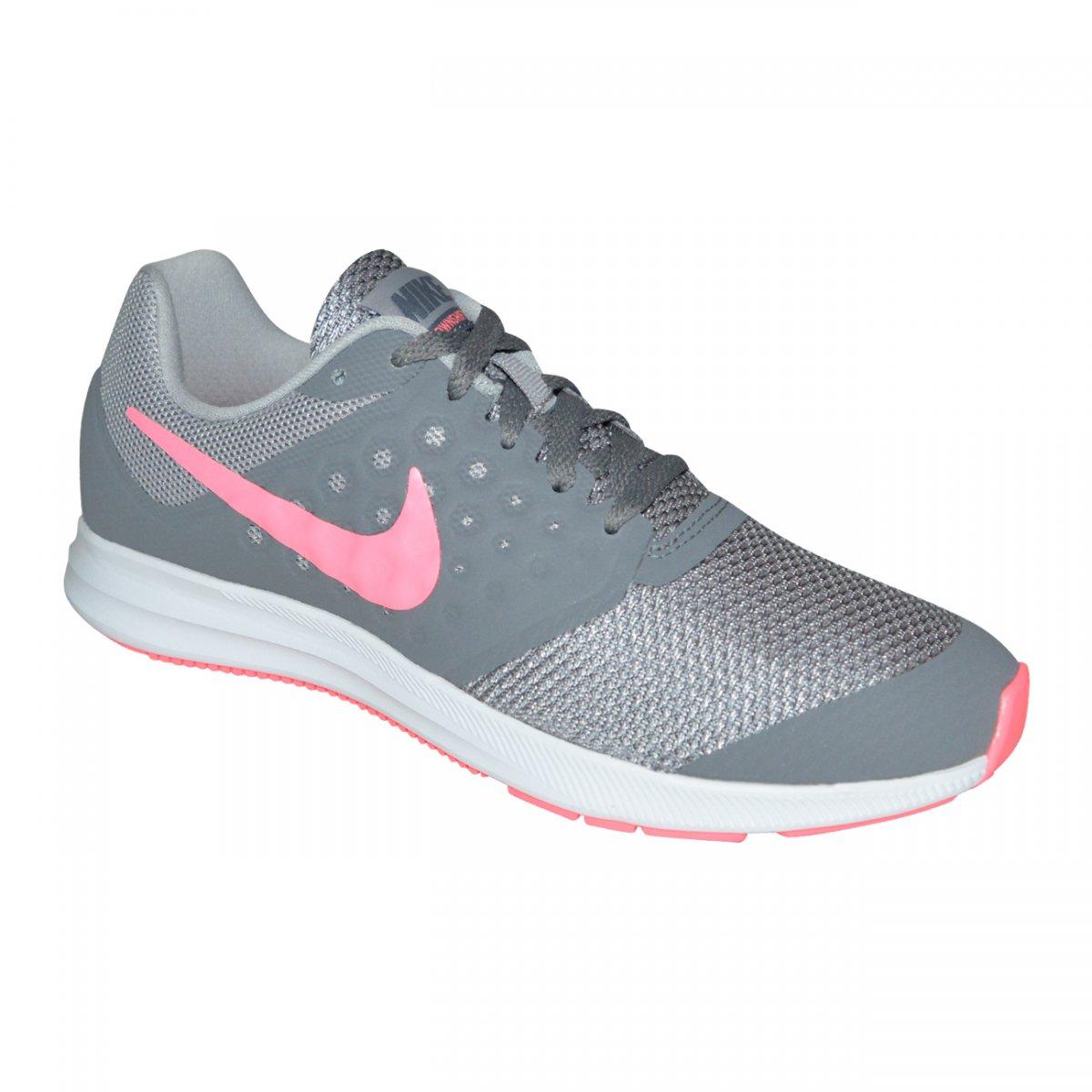 de6c6cf6f98 Tenis Nike Downshifter 7 Juvenil 869972 003 - Chumbo pink - Chuteira Nike