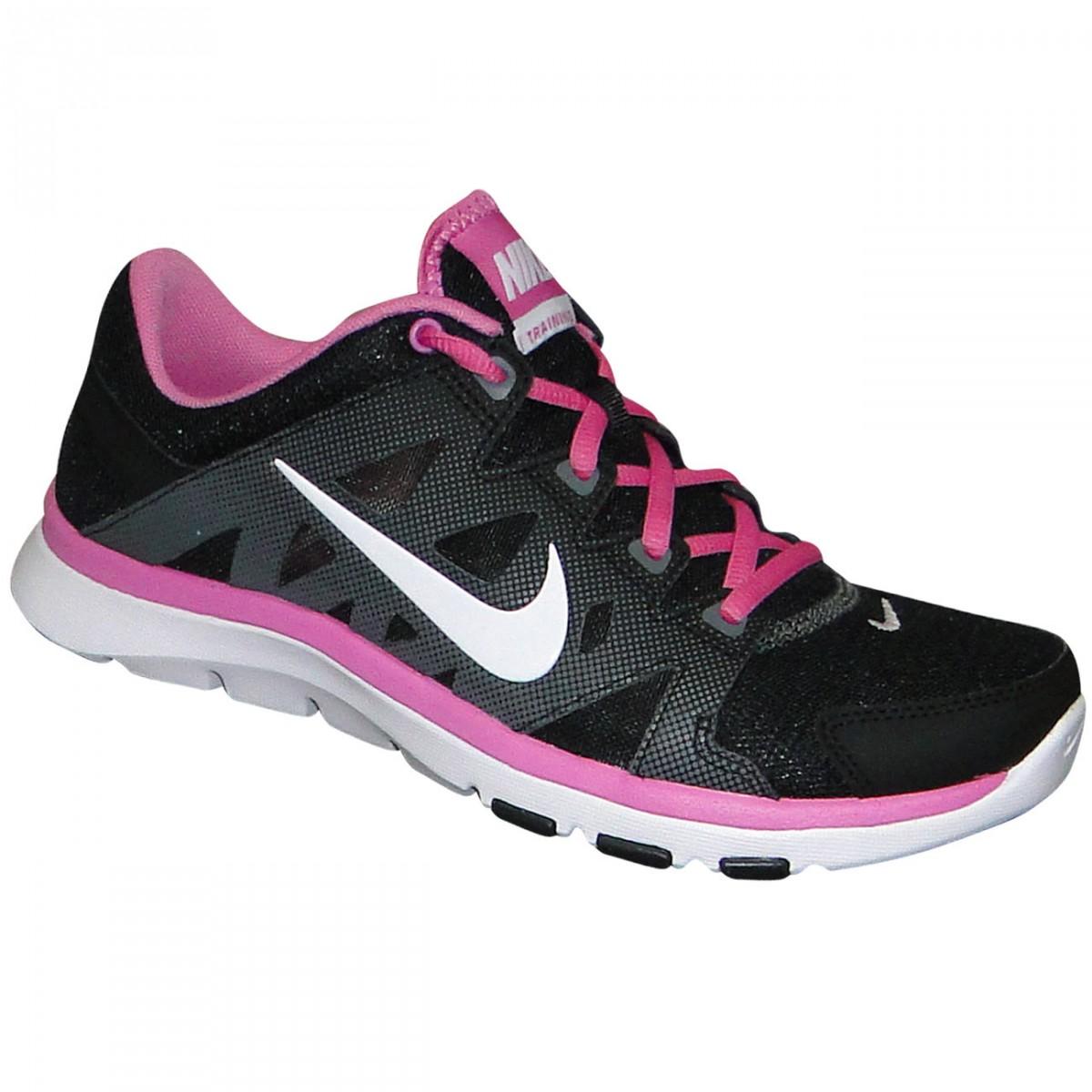Tenis Nike Flex Supreme Tr 2 616694 007 - Preto Branco Rosa ... ad98013a5c67a