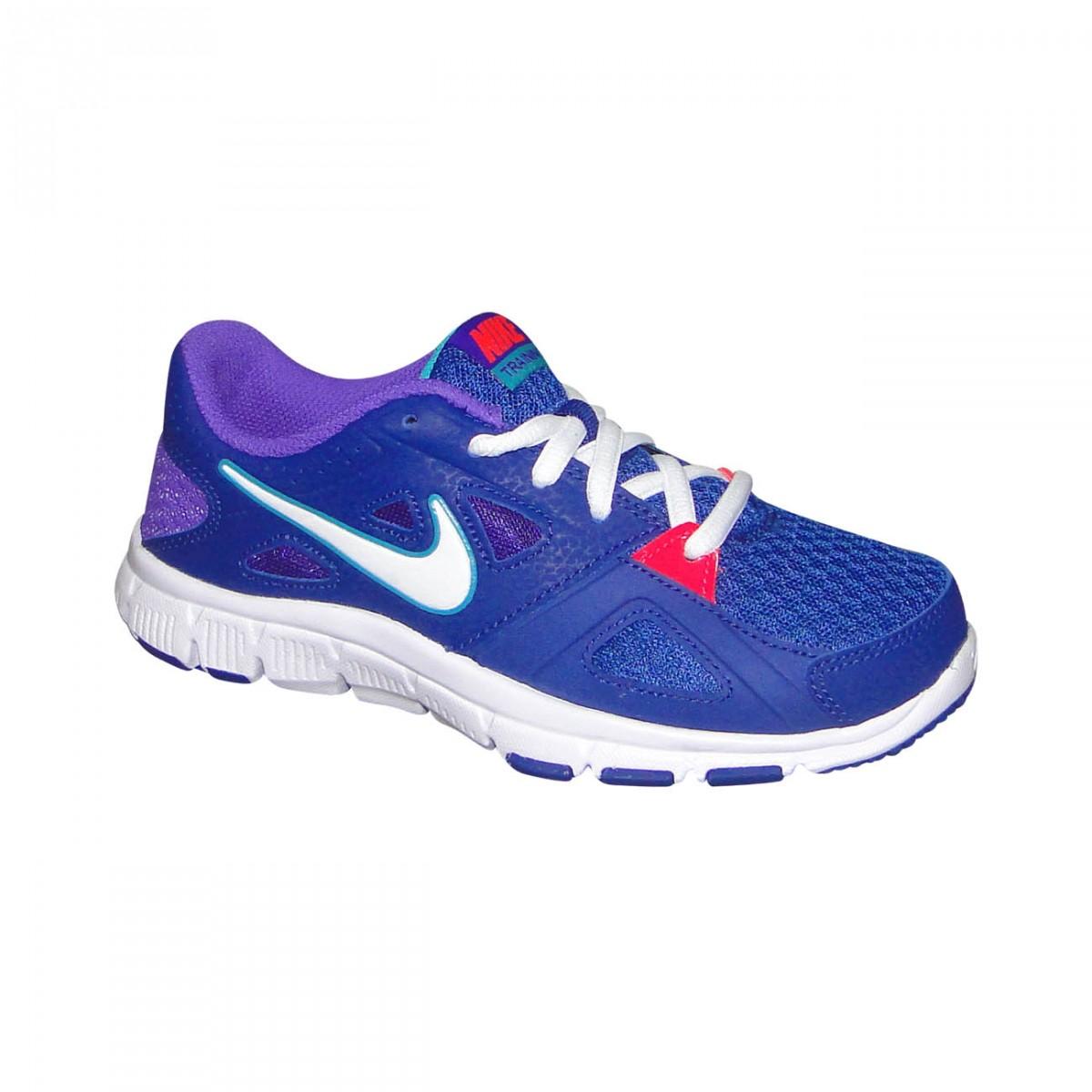 0716fb3bdc Tenis Nike Flex Supreme Tr 2 Infantil 598873 403 - Azul Branco Lilas -  Chuteira Nike