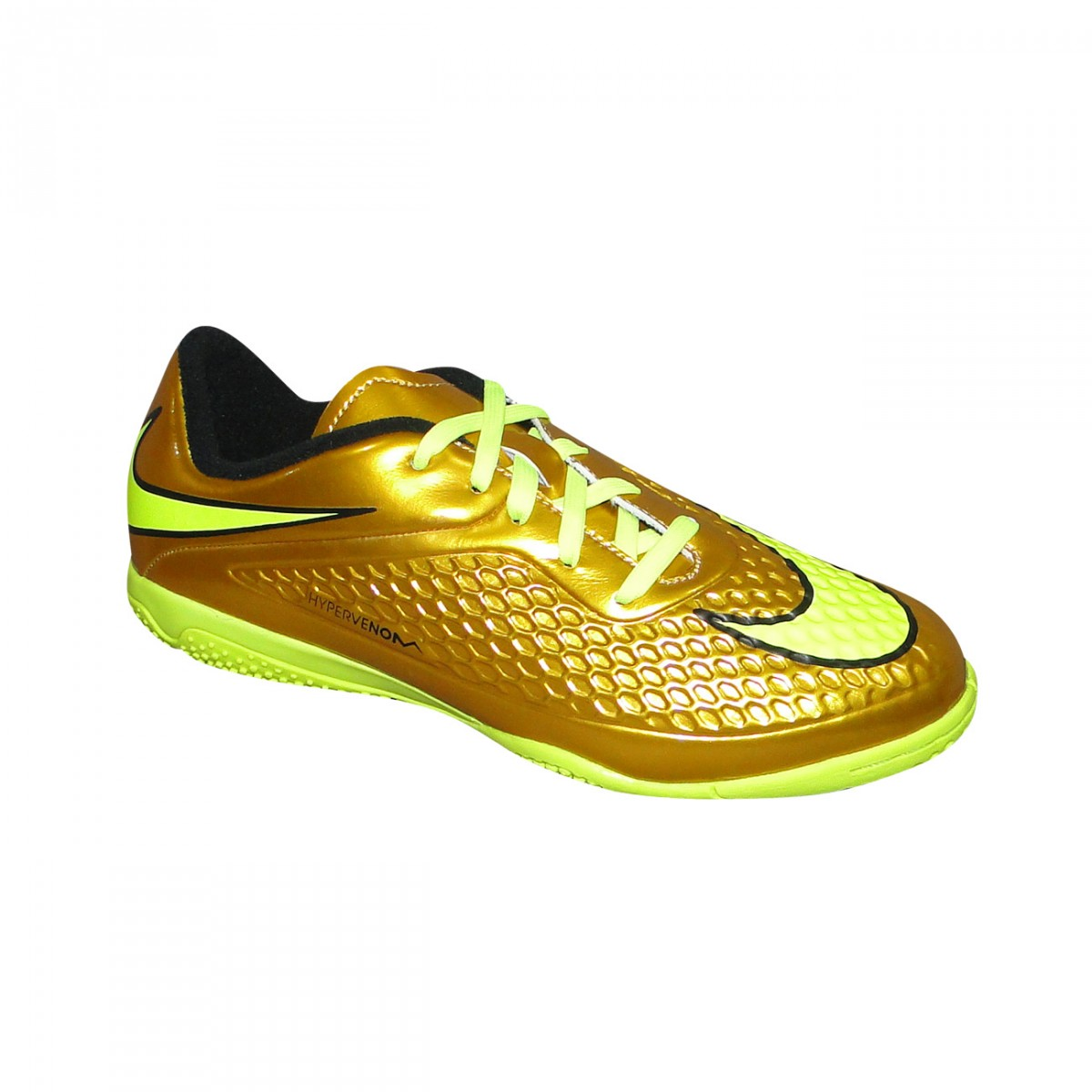 9da61d74ae221 Tenis Nike Hypervenom Phelon Infantil 677590 907 - Dourado Limão - Chuteira  Nike
