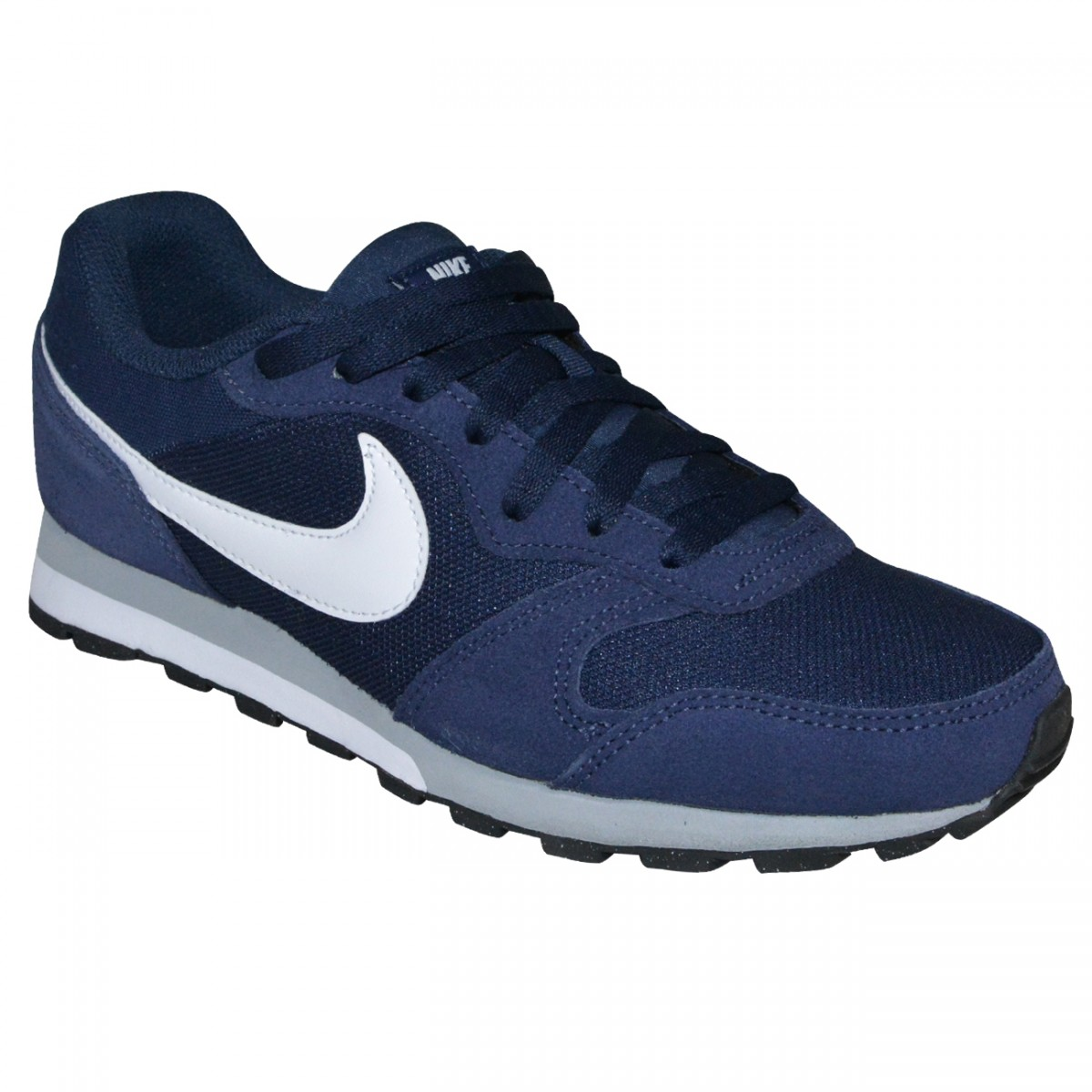 0bea283e30 Tenis Nike MD Runner 2 749794 410 - MARINHO BRANCO CINZA - Chuteira Nike
