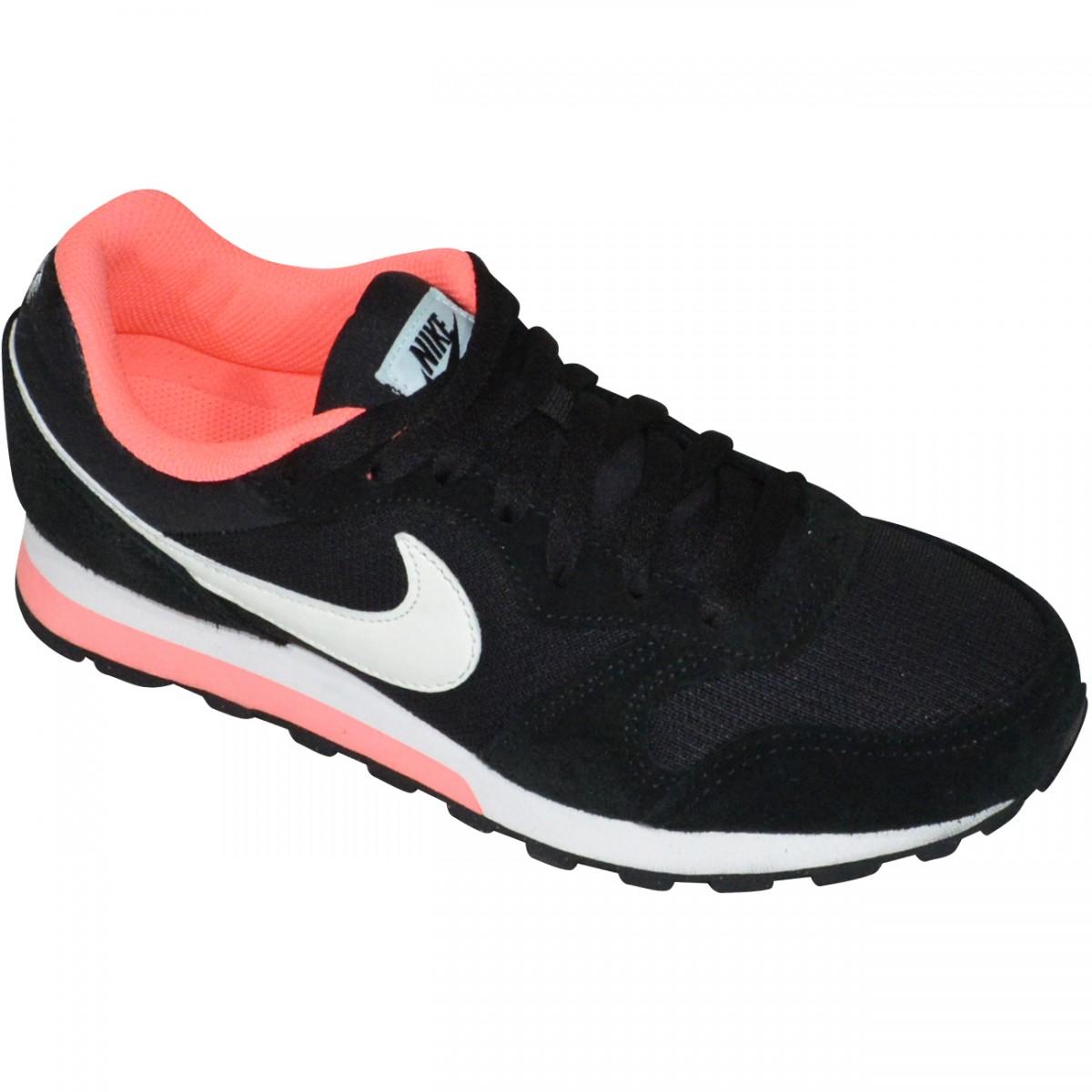 ade5ca6429 Tenis Nike MD Runner 2 749869 004 - Preto Branco Rosa - Chuteira Nike