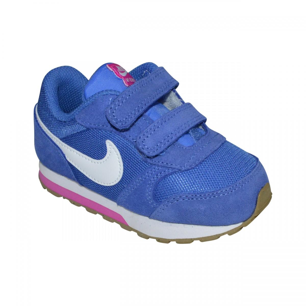 32d0f08658 Tenis Nike MD Runner 2 Infantil 807328 404 - Royal Branco Pink - Chuteira  Nike