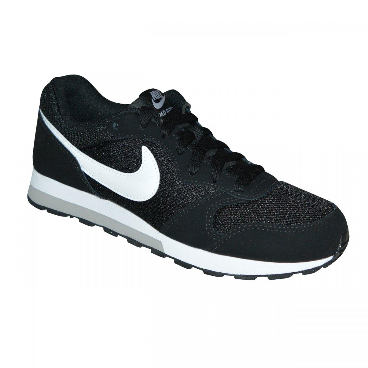 11b66f779 Tenis Nike Md Runner 2 Juvenil 807316 001 - Preto branco - Chuteira Nike