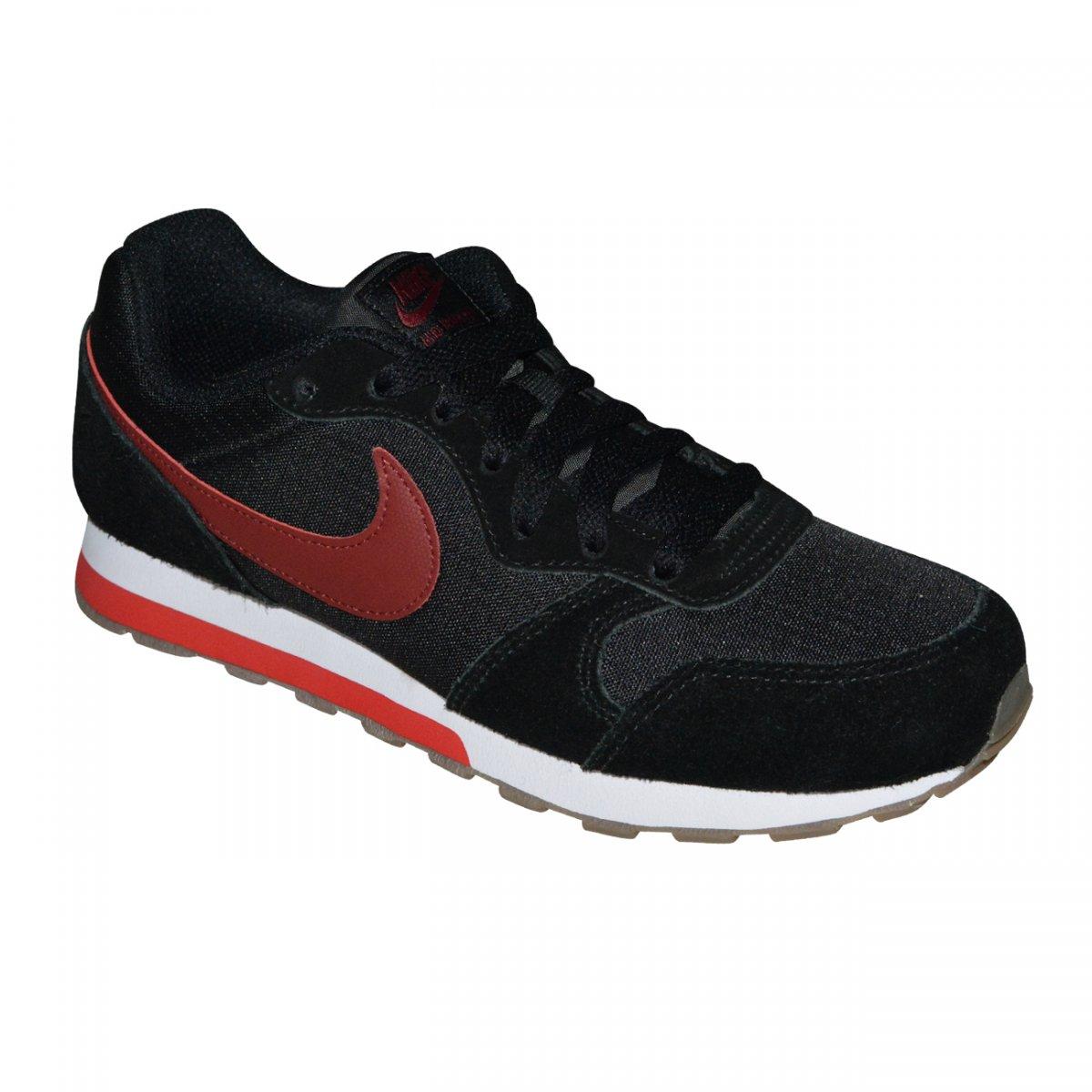 40b5cbb2c Tenis Nike Md Runner 2 Juvenil 807316 010 - Preto bordô - Chuteira Nike