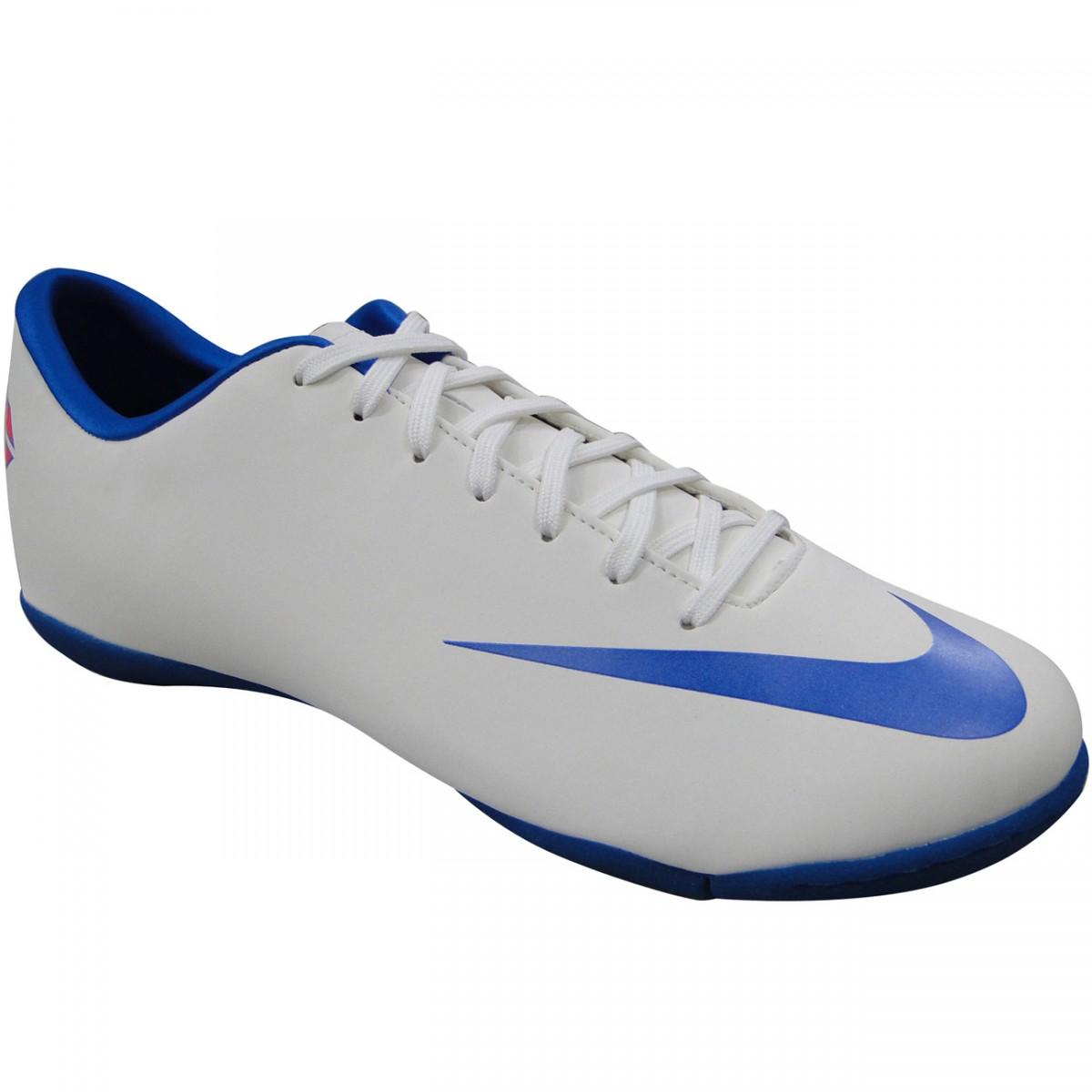 TENIS Nike MERCURIAL VICTORY III III III 2931 brancoO/AZUL Chuteira Nike 1a5000