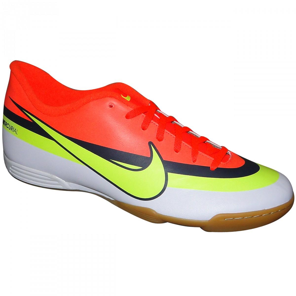 Tenis Nike Mercurial Vortex 586520-174 - Laranja Limão Branco - Chuteira  Nike 870e455f5afb1