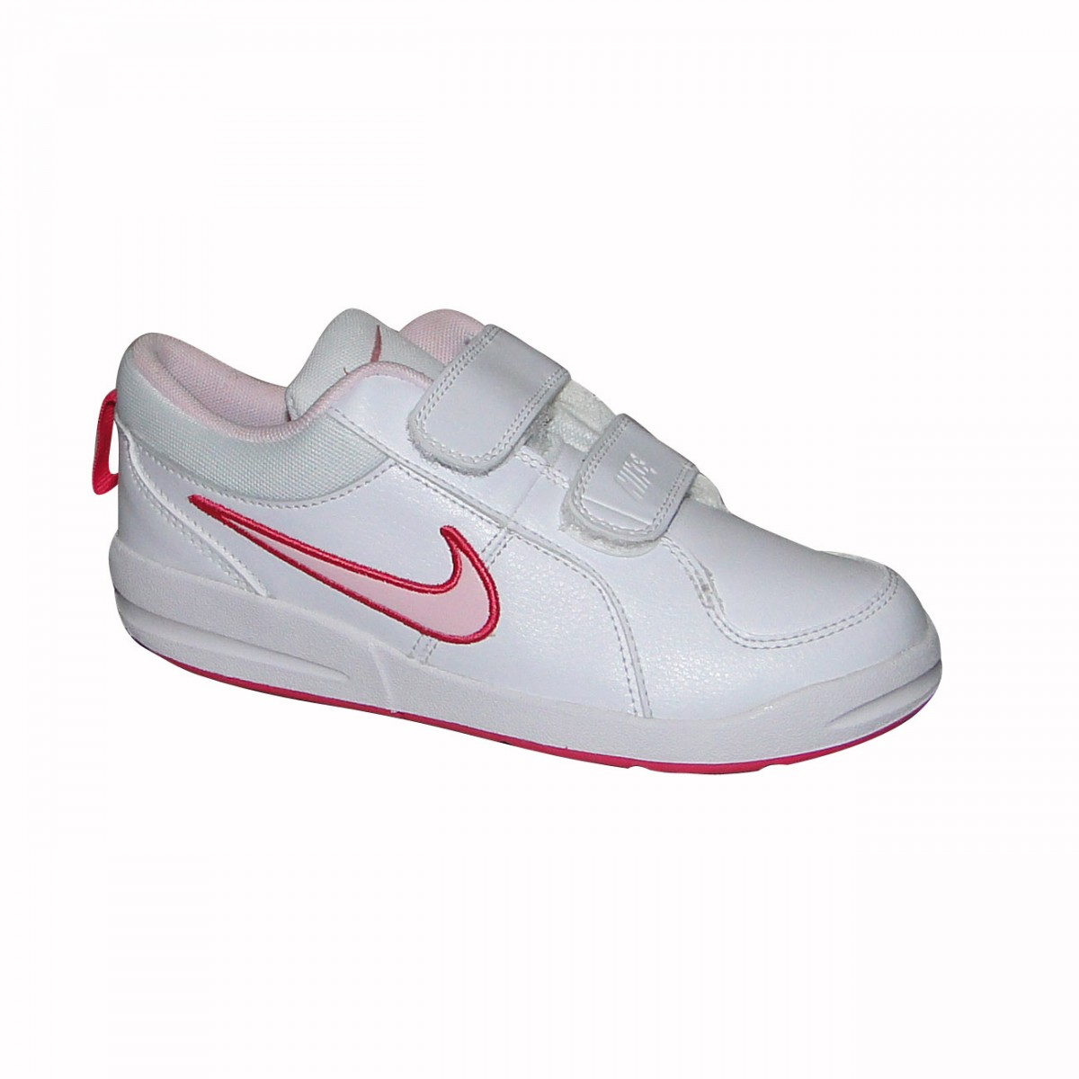 5f0aa24d5e1 TENIS NIKE PICO 4 INFANTIL 454477103 - Branco Rosa - Chuteira Nike ...
