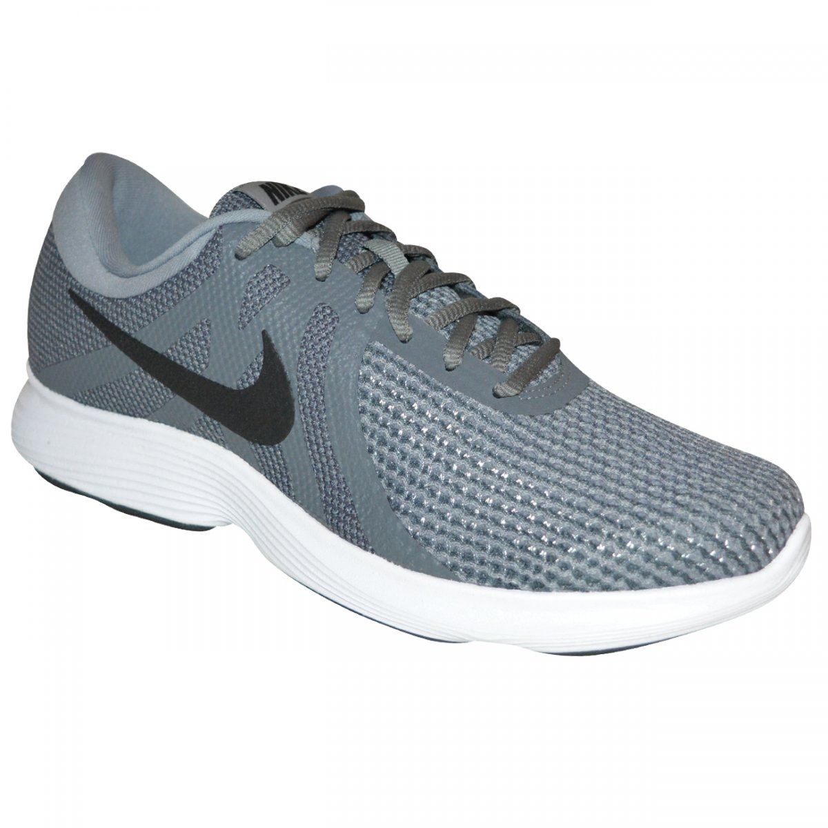 Tenis Nike Revolution 4 908988 010 - Grafite branco preto - Chuteira Nike 9588dc38db3bf