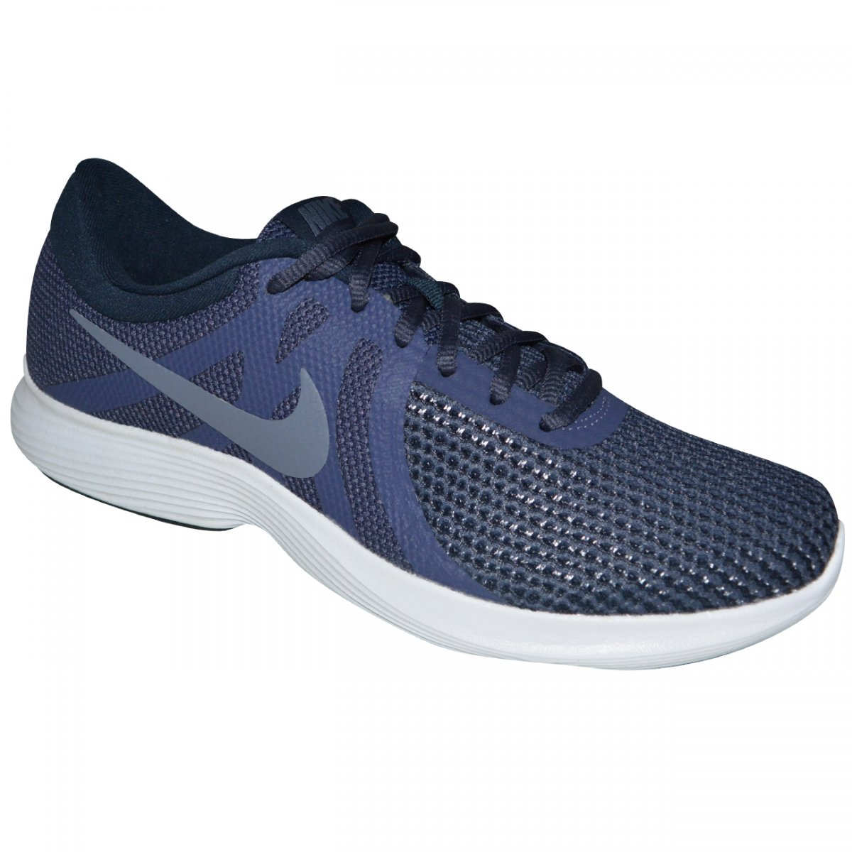 Tenis Nike Revolution 4 908988 500 - Marinho marinho cinza - Chuteira Nike 3e9d63bb32853