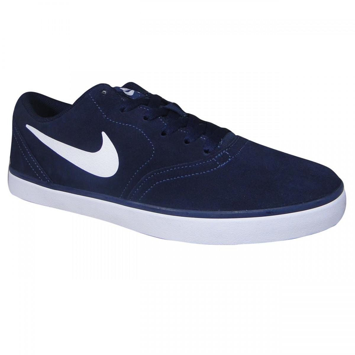 b983dc9827e Tenis Nike SB Check 705265 410 - Marinho Branco - Chuteira Nike ...