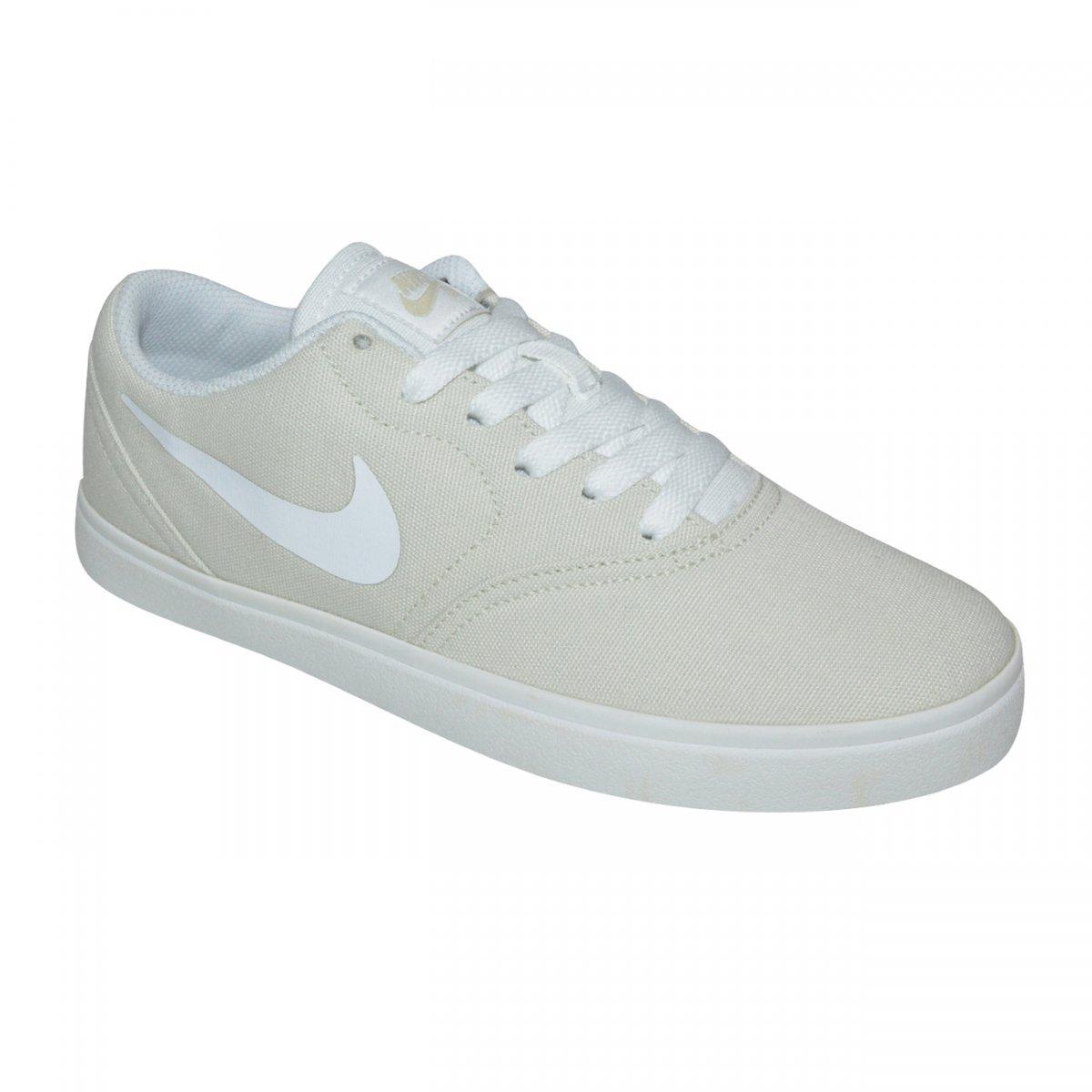 50b00ef48bc Tenis Nike SB Check CNVS Juvenil 905373 002 - Areia Branco - Chuteira Nike