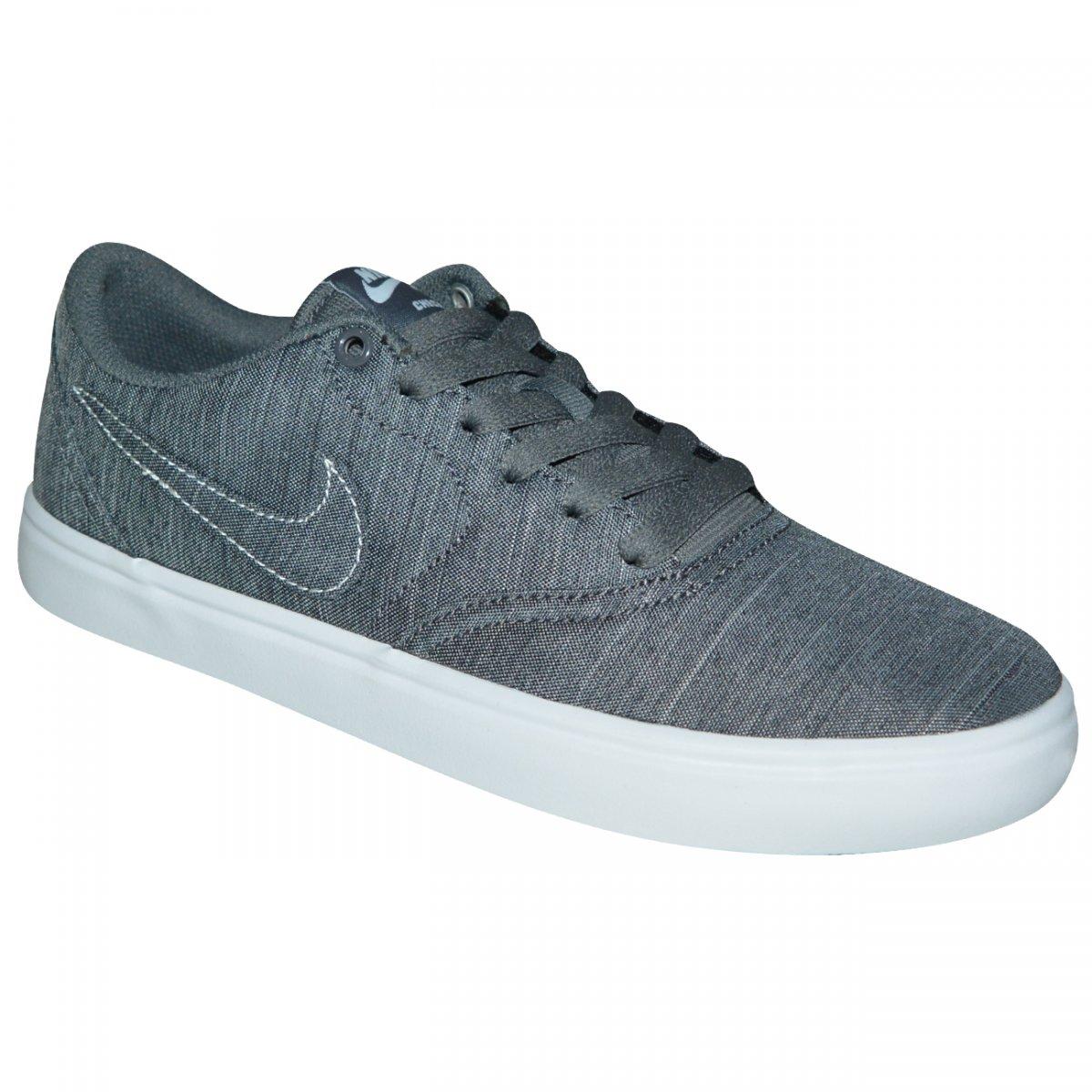Tenis Nike SB Check Solar Cvs P 921464 004 - Mescla branco - Chuteira Nike a4c9a282a9ae2