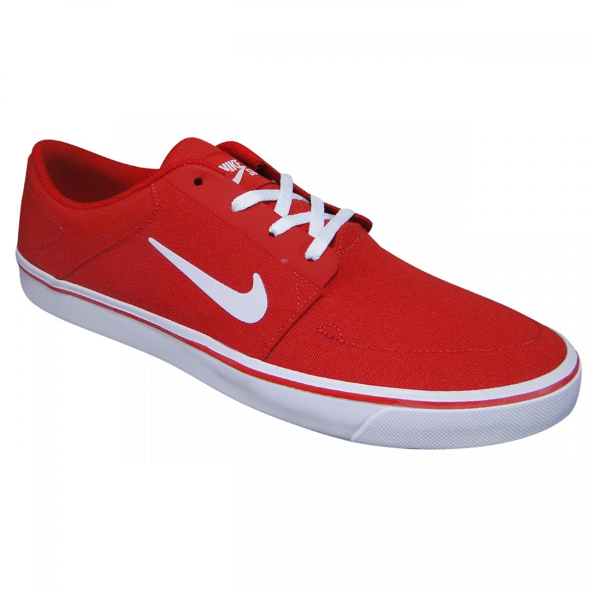 ccd0edd328d Tenis Nike Sb Portmore 723874 612 - Vermelho Branco - Chuteira Nike ...
