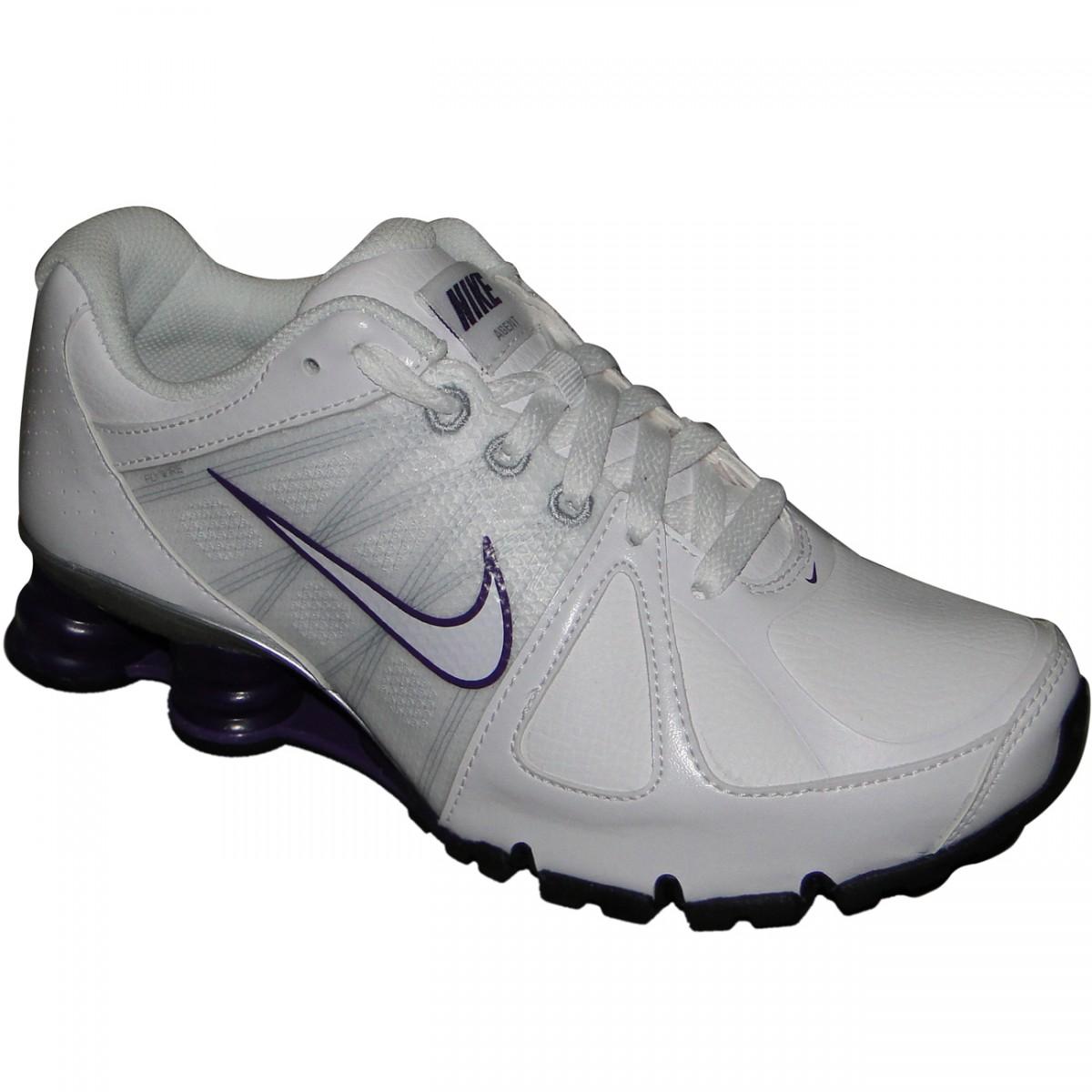 Tênis Nike Shox Agent Sl 510960 - BRANCO UVA - Chuteira Nike 3be443d898f
