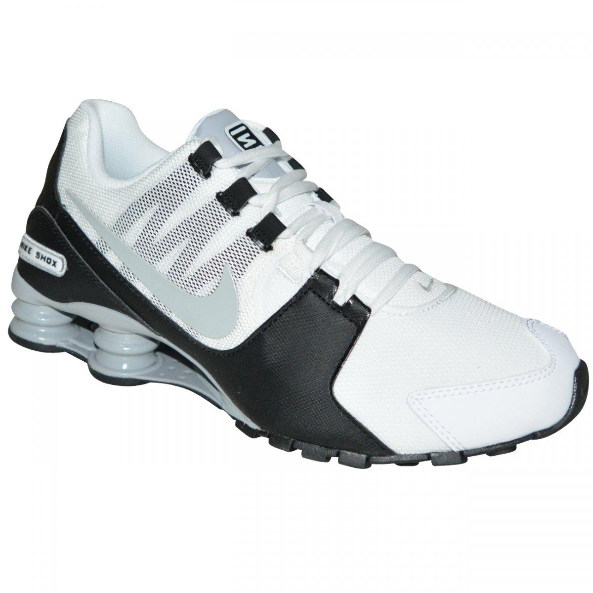 124534aa25 Tenis Nike Shox Avenue 833583 100 - Branco/preto/cinza - Chuteira Nike,  Adidas. Sandalias Femininas. Sandy Calçados
