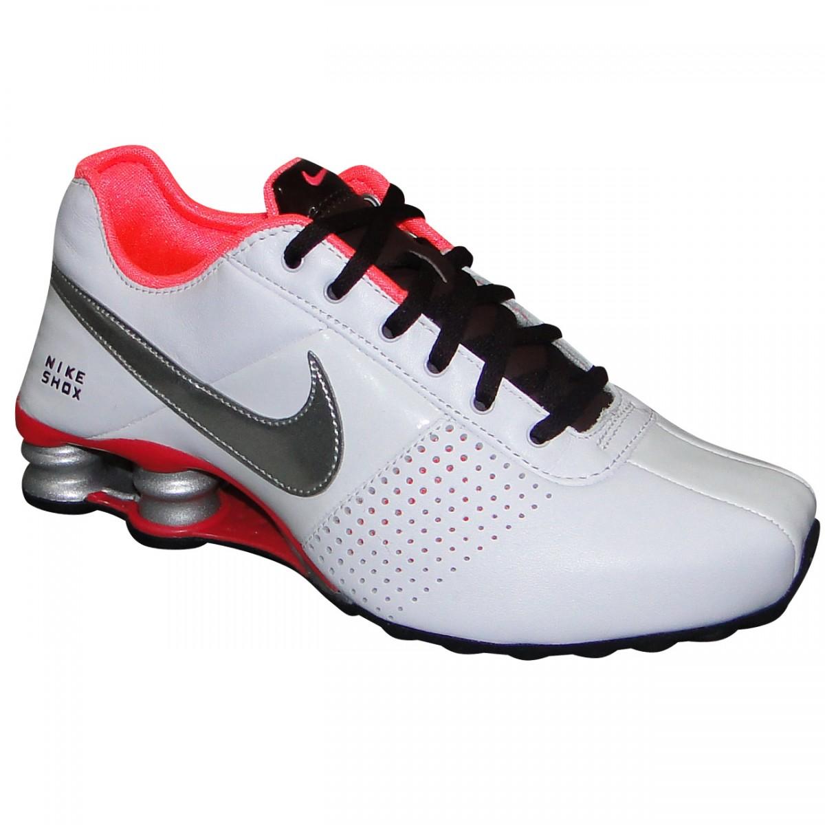 7d423b904df Tenis Nike Shox Deliver 317549 113 - Branco Prata Pink - Chuteira ...