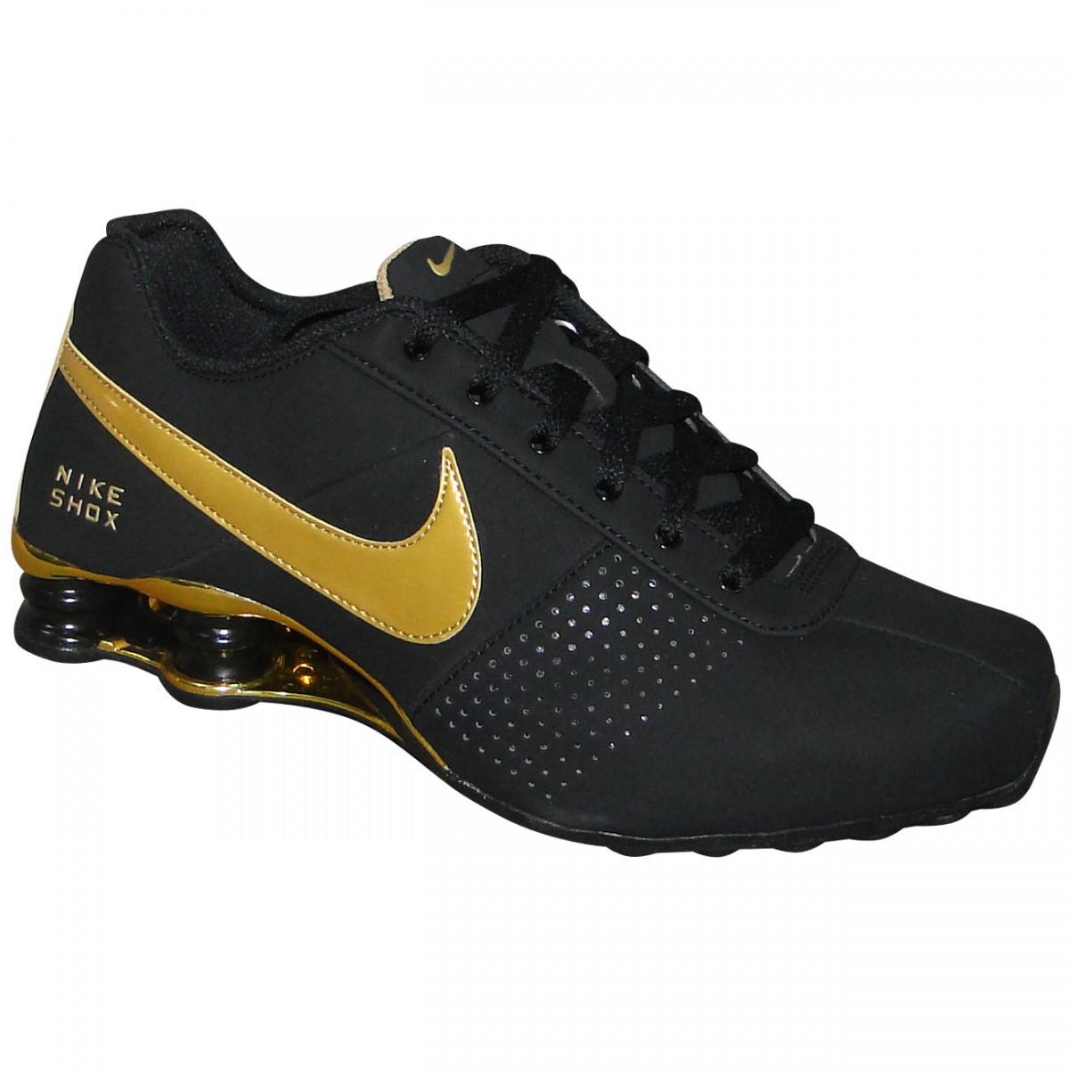 d5048ef0dfa Tenis Nike Shox Deliver 317547-036 - Preto Dourado - Chuteira Nike ...