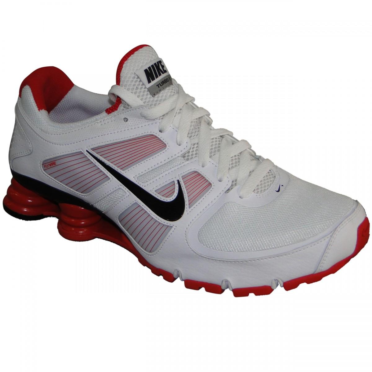 hot sale online 4fee2 c743e Tênis Nike Shox Turbo+ 11 0991 - BRANCO PRETO VERMELHO - Chuteira Nike,  Adidas. Sandalias Femininas. Sandy Calçados