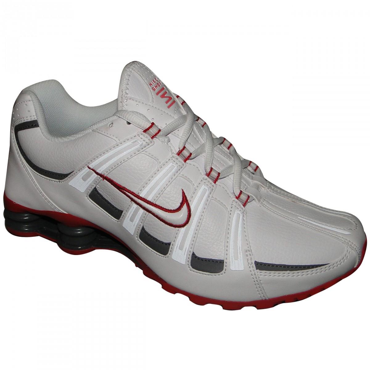 b57760ef709a9 Tenis Nike Shox Turbo Sl 525248-116 - Branco/Chumbo/Vermelho - Chuteira Nike,  Adidas. Sandalias Femininas. Sandy Calçados