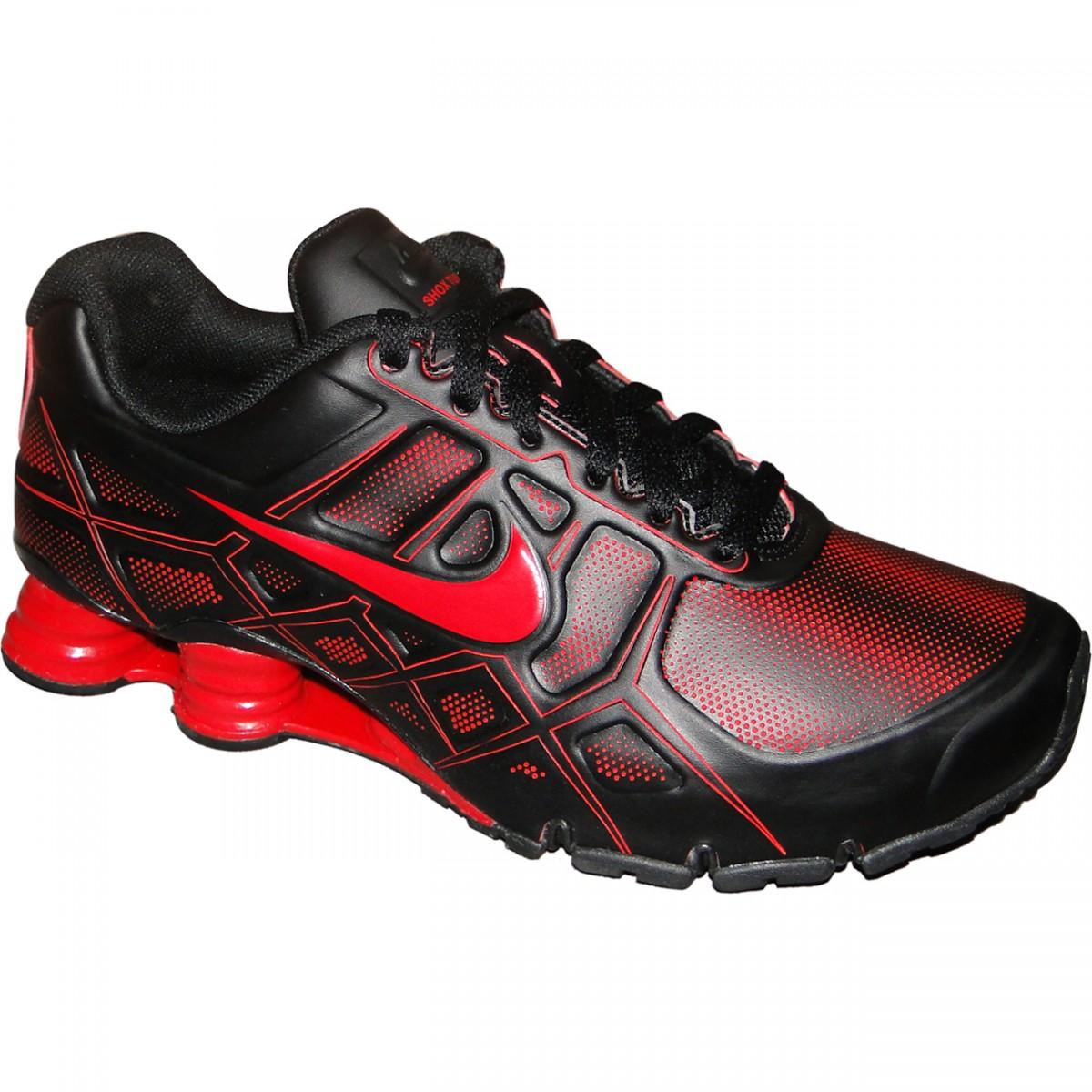 c1581d633d7 Tênis Nike Shox Turbo Xii 8322 - PRETO VERMELHO - Chuteira Nike ...