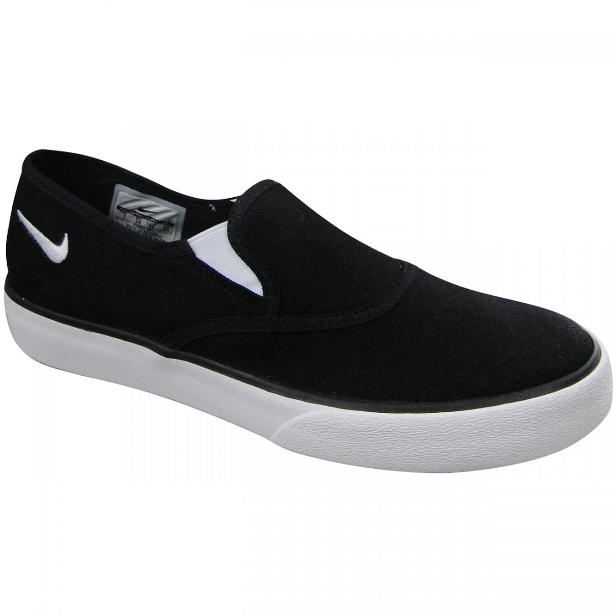 69d3e60d37 TENIS NIKE SPRING SLIP-ON 455662-001 - PRETO BRANCO - Chuteira Nike ...