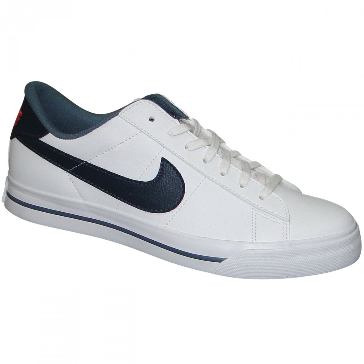 995040016f0 Tenis Nike Sweet Classic Low Sl 580442 101 - Branco Marinho ...