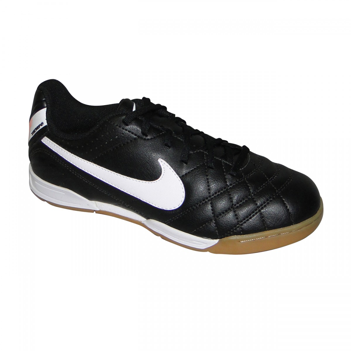 Tênis Nike Tiempo Natural Iv Infantil 9216 - PRETO BRANCO - Chuteira Nike ae7008124e7b1