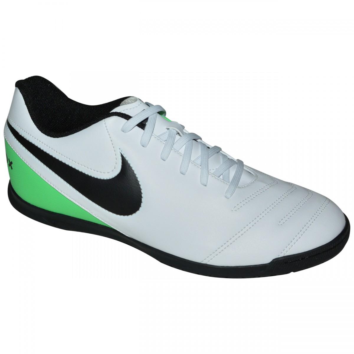 4b7599aebc1c9 Tenis Nike Tiempox Rio III 819234 103 - Branco Preto Verde - Chuteira Nike