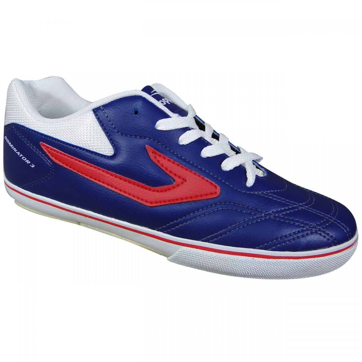 80dbfd4d2a Tenis Topper Dominator III Futsal 4132751 464 - MARINHO VERMELHO BRANCO -  Chuteira Nike